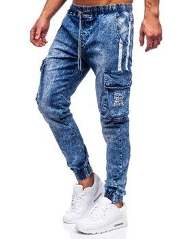Tmavě modré pánské džínové jogger kapsáče Bolf TF053