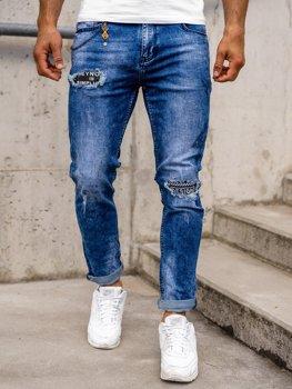 Tmavě modré pánské džíny skinny fit Bolf 85001S0