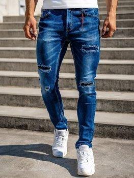 Tmavě modré pánské džíny slim fit Bolf 80033W0