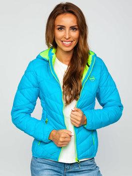 Tyrkysová dámská zimní bunda Bolf AB027