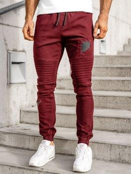 Vínové pánské jogger kalhoty Bolf 0829