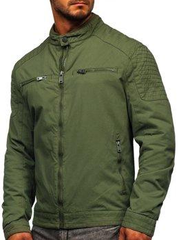 Zelená pánská elegantní p?echodová bunda Bolf 1816