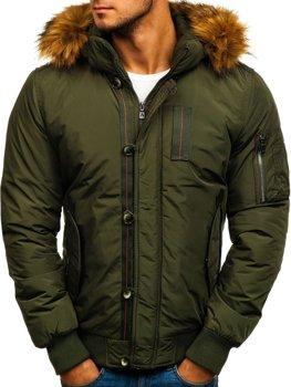 Zelená pánská zimní bunda Bolf 5441