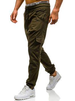 Zelené pánské jogger kapsáče Bolf 0404GBR