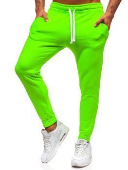 Zeleno-neonové pánské tepláky Bolf 11121