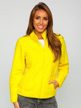 Žlutá dámská fleecová mikina Bolf HH006