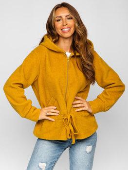 Žlutá dámská mikina s kapucí Bolf 9320