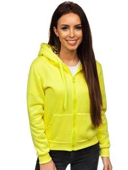 Žlutá dámská mikina s kapucí Bolf WB1005