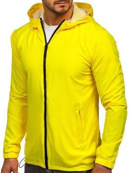 Žlutá pánská sportovní bunda větrovka Bolf HH035