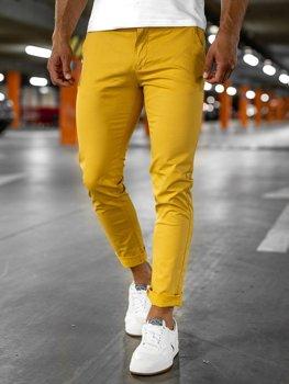 Žluté pánské chino kalhoty Bolf 1146-1