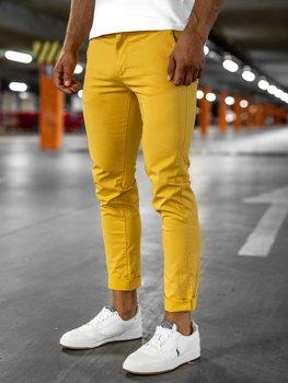 Žluté pánské chino kalhoty Bolf 1146