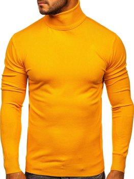 Žlutý pánský rolák bez potisku Bolf YY02
