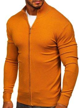 kamelovy pánsky svetr na zip Bolf YY07
