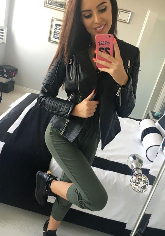 Černá pánská kožená bunda z ekokůže Bolf 8820