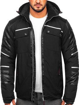 Černá pánská zimní softshellová bunda Bolf K33