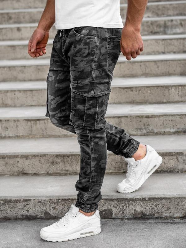 Černé pánské jogger kapsáče Bolf RB9491DT