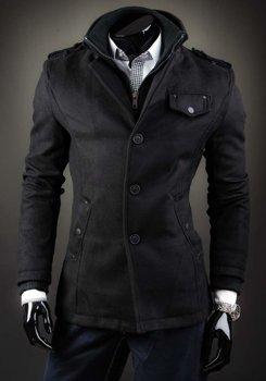 Černý pánský kabát Bolf 8853B