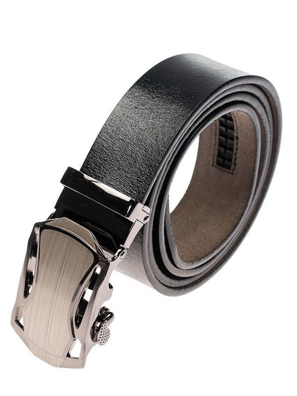 Černý pánský kožený pásek Bolf P010
