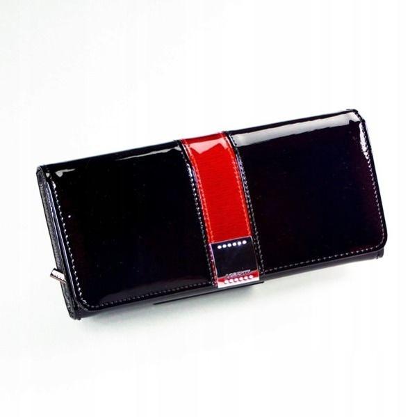 Dámská černá kožená peněženka 1166