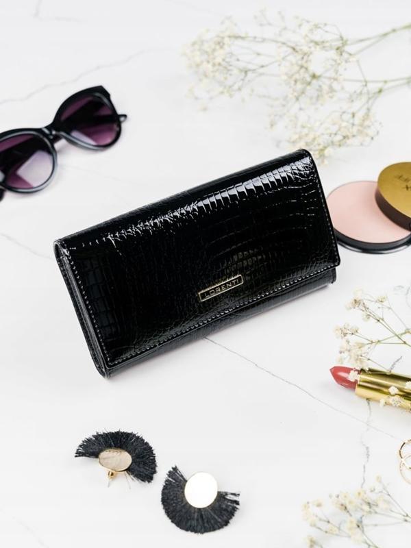 Dámská černá kožená peněženka 2102