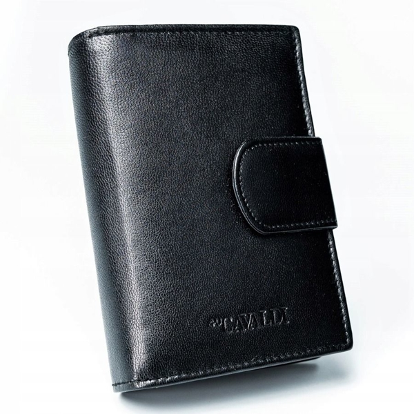 Dámská černá kožená peněženka 2777