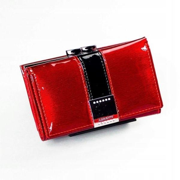 Dámská červená kožená peněženka 1216