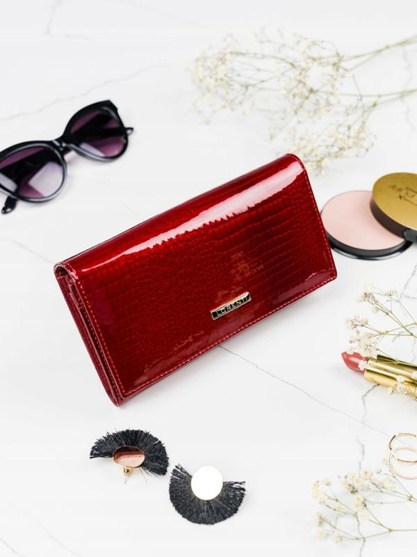 Dámská červená kožená peněženka 2089