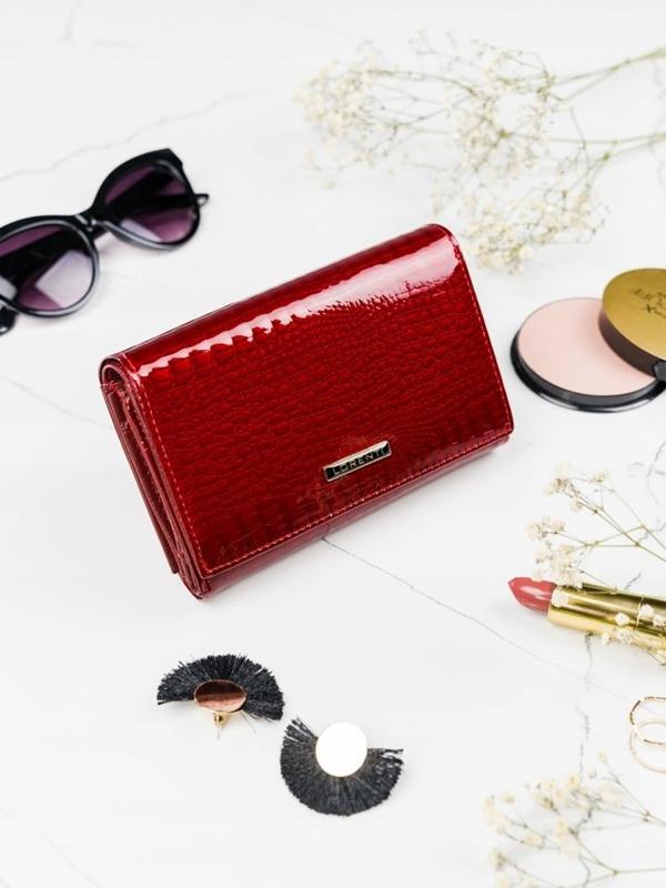 Dámská červená kožená peněženka 2091
