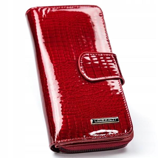 Dámská červená kožená peněženka 2772
