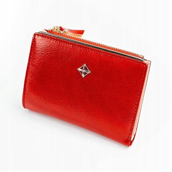 Dámská červená koženková peněženka 1031