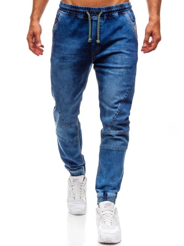Modré pánské džínové jogger kalhoty Bolf 620