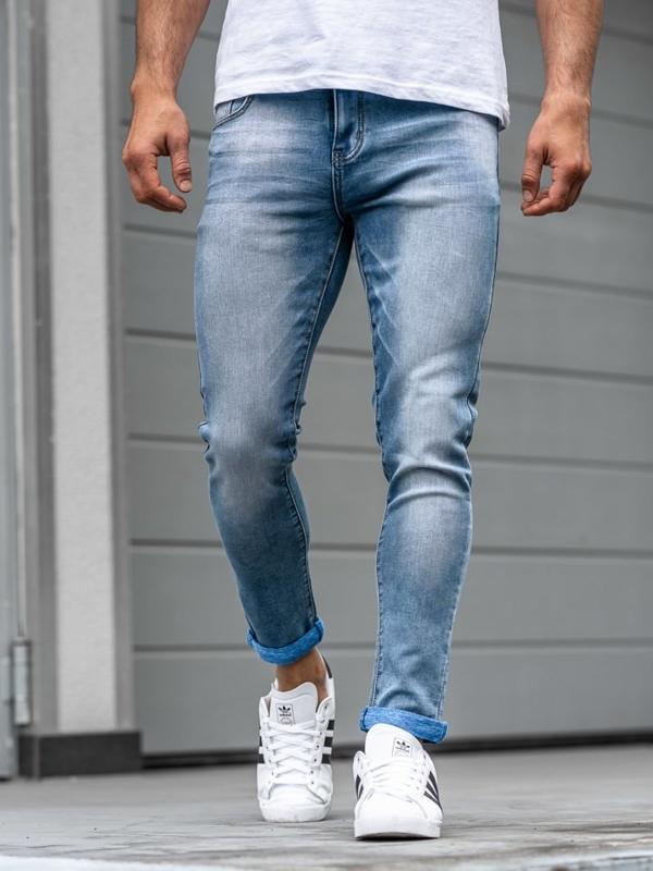 Modré pánské džínové kalhoty Bolf KX160