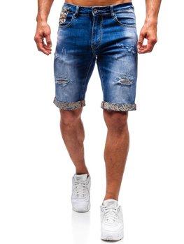 Modré pánské džínové kraťasy Bolf T399