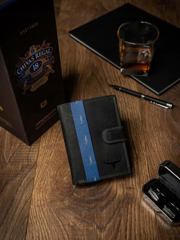 Pánská černá kožená peněženka 2225