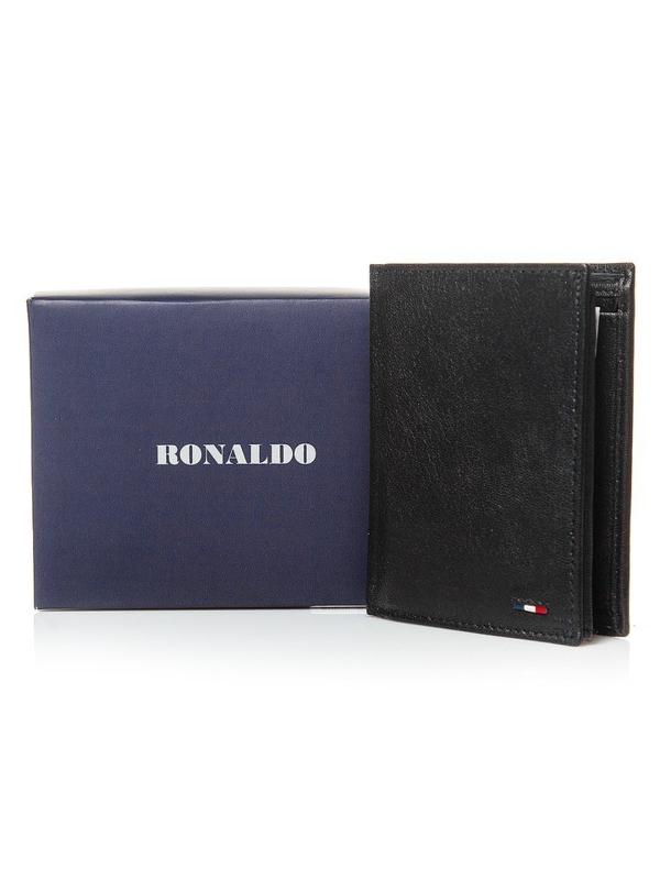 Pánská černá kožená peněženka 3079