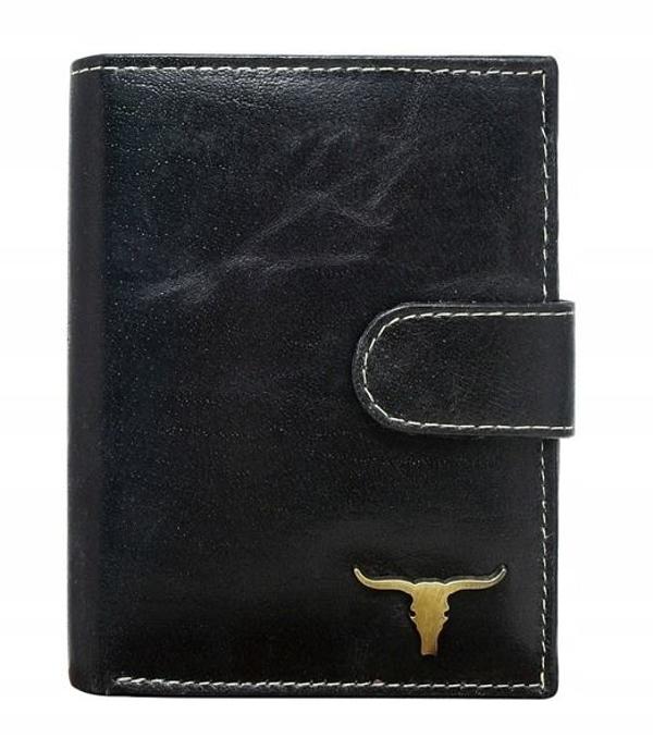 Pánská černá kožená peněženka 41