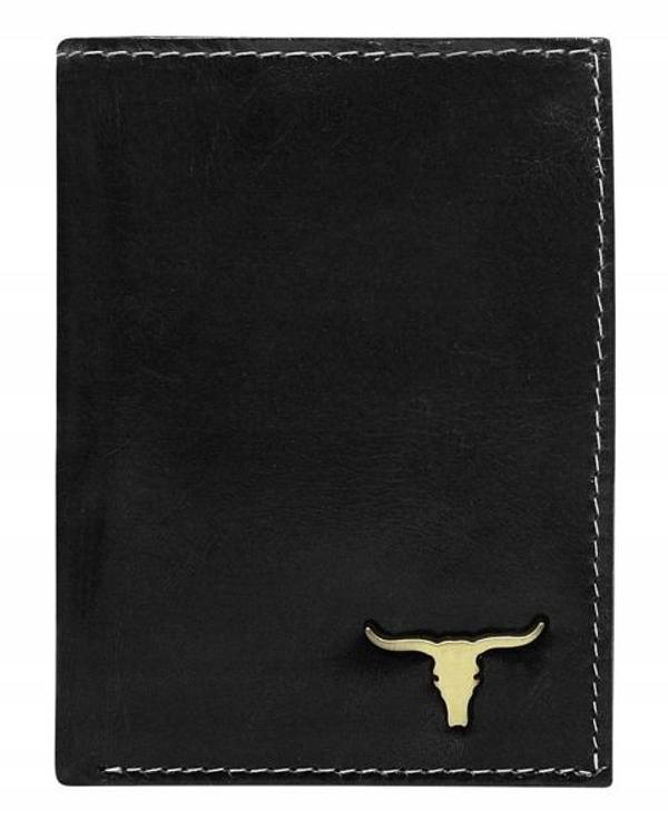 Pánská černá kožená peněženka 63