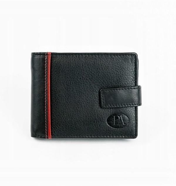 Pánská černá kožená peněženka 872
