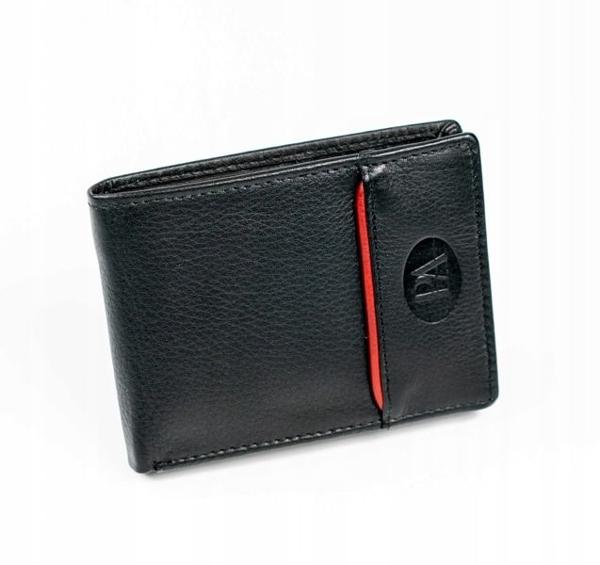 Pánská černá kožená peněženka 875