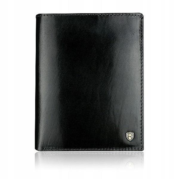 Pánská černá kožená peněženka 911