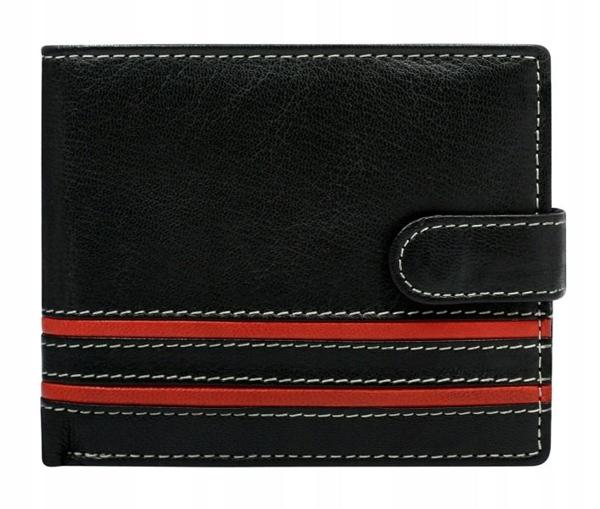 Pánská červená kožená peněženka 600