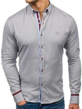 Pánská košile BOLF 5801 šedá