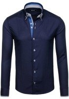 Pánská košile BOLF 5805 tmavě modrá