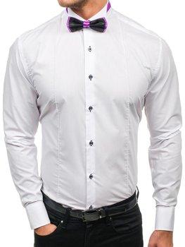 Pánská košile s motýlkem BOLF 5786 bílá