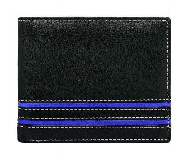 Pánská modrá kožená peněženka 580