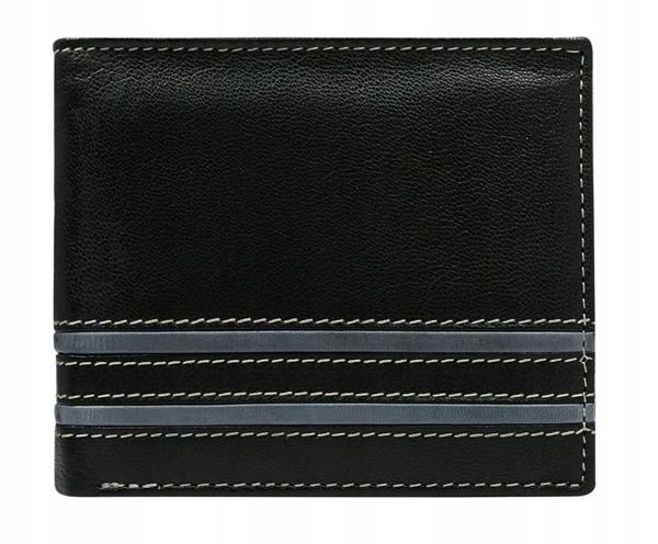 Pánská šedá kožená peněženka 581