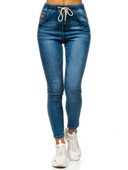 Tmavě modré dámské džíny Boyfriend Bolf DM9338