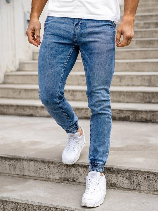 Tmavě modré pánské džínové jogger kahoty Bolf KA1626