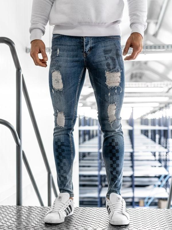 Tmavě modré pánské džíny Bolf 1062