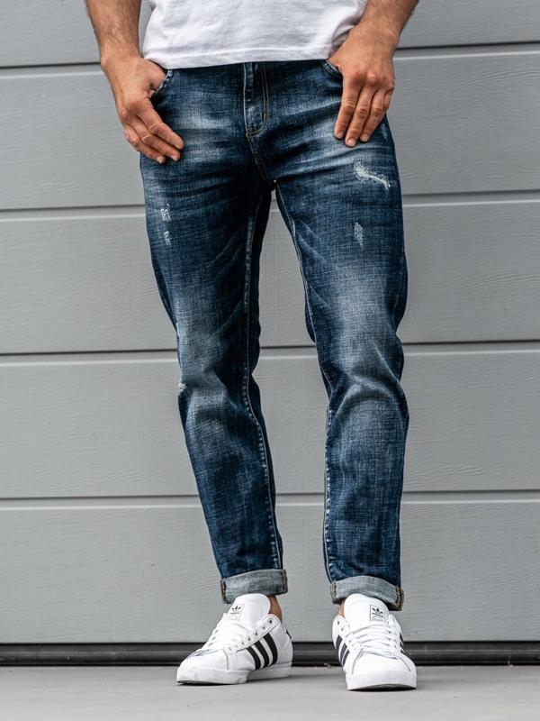 Tmavě modré pánské džíny Bolf KX273